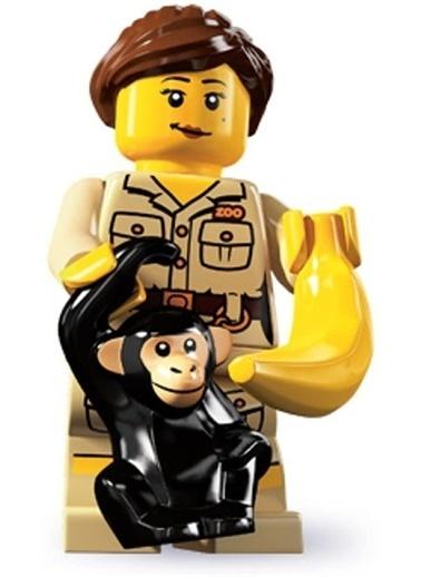 Lego Lego Minifigür - Seri 5 - 8805 - Zookeeşer Renkli